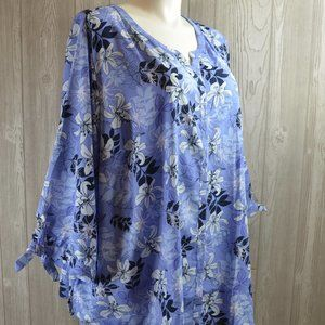 NWT Catherines Button Down Top BBW 4X 5X PLUS SIZE